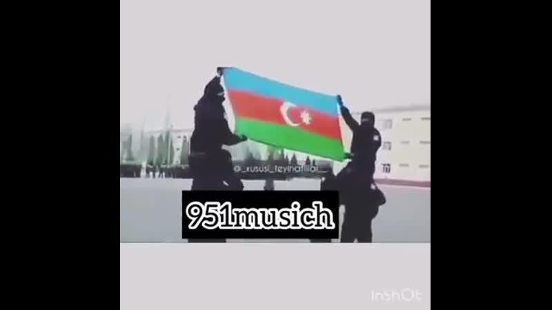 Azerbaycan esgeri ermeni bayragini yox etdi