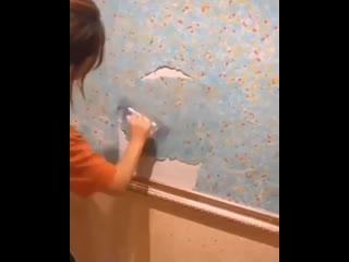 Такой отделки стен я еще не видела