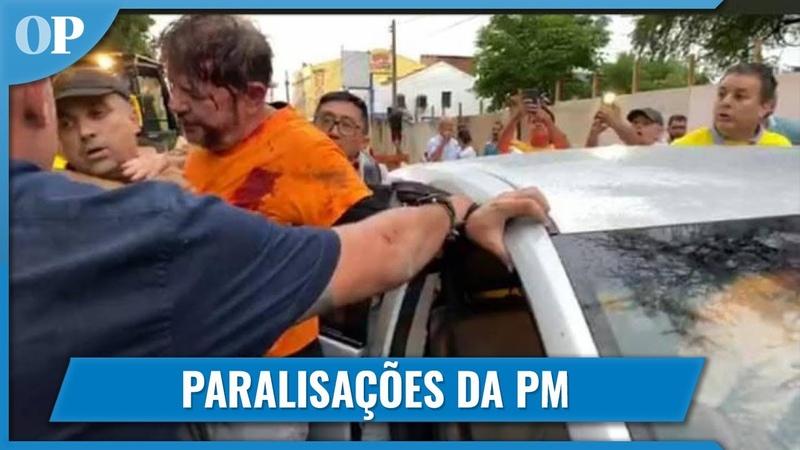 CID GOMES É BALEADO EM SOBRAL APÓS JOGAR TRATOR SOBRE MANIFESTANTES