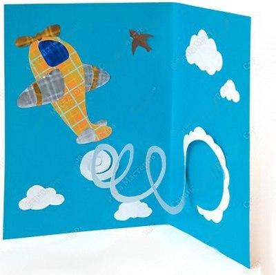 Открытка для папы на 23 февраля Шаблон прилагается. Пусть над нами будет только мирное небо, а в нём птицы, облака и спортивные самолёты, выписывающие фигуры высшего пилотажа. Эта открытка