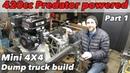 420cc Predator powered articulating 4x4 dump truck build part 1
