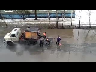 Дорожные работы в Архангельске