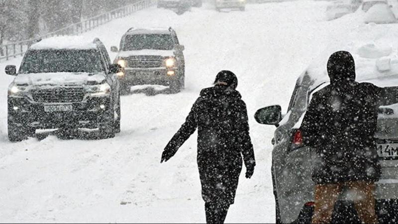Снежная буря в Мурманске Тройная норма осадков выпала за 1 день