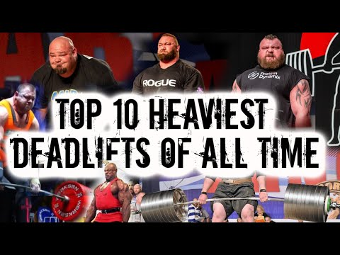 TOP 10 HEAVIEST DEADLIFTS OF ALL TIME 1102LBS WORLDS HEAVIEST LIFTS