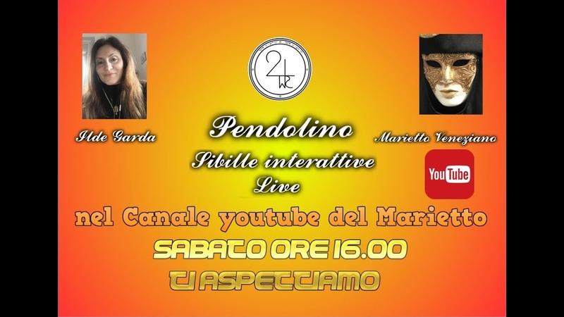 Spot per oggi sabato ore 16.00 per Sibille e Radiestesia a cura di Ilde Garda e Marietto Veneziano