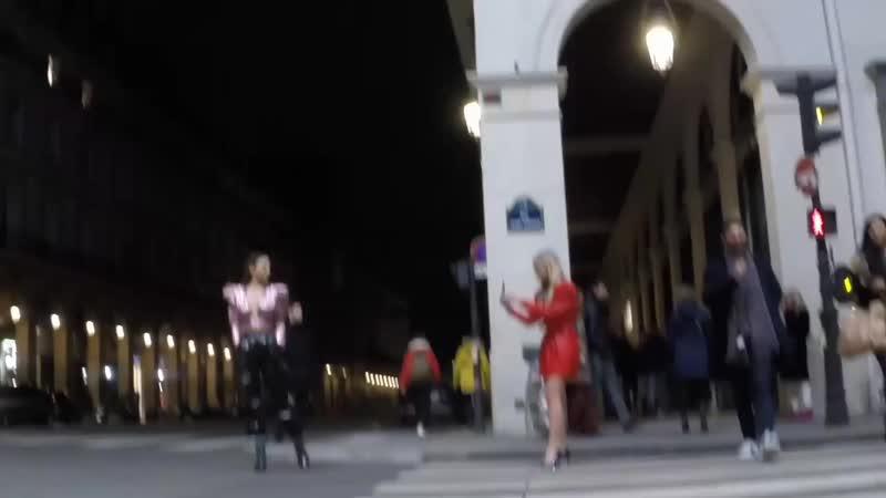 Storage emulated 0 VideoVK Pretty Blonde in red leather mini dress 77 1080p mp4
