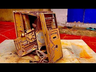 Restoration a destroyed 30-year-old PC | Rebuild and restore 30 year old PC
