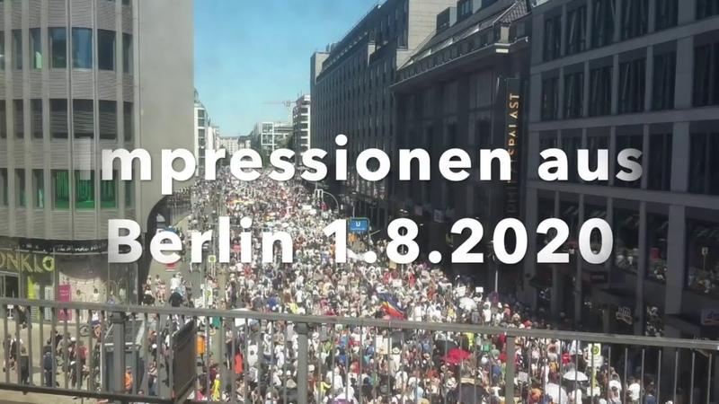 Impressionen aus Berlin vom 1.8.2020 Eindeutig nur 17000 Demonstranten. 😁😁