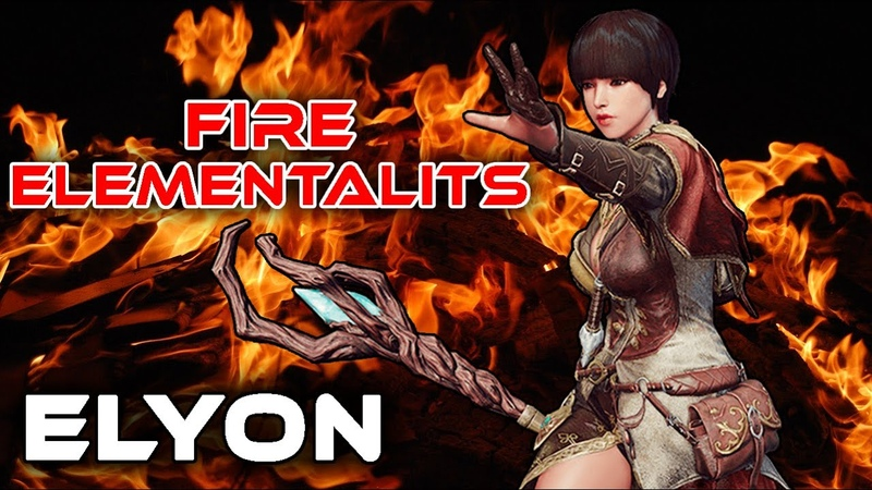 ELYON 🔥 Fire Elementalist 🔥 Dungeon x2 PvE ◾ Gameplay Beta A IR