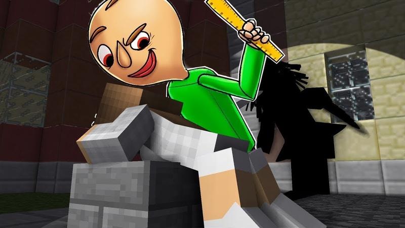 УЧИТЕЛЬ БАЛДИ НАКАЗАЛ ДЕВУШКА 😍 Школа Монстров в Майнкрафт нуб против Троллинг Baldi's Minecraft