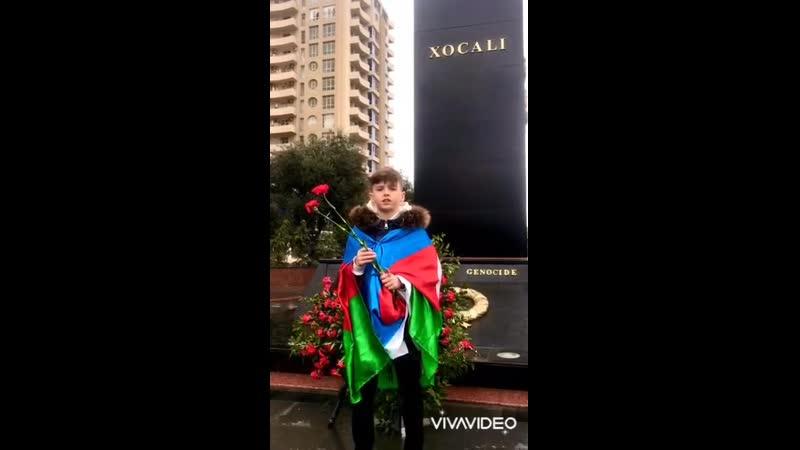Посещение Мемориала памяти Ходжалинской Трагедии учеником 5д класса 264 школы лицея Хатаинского района Аликсей Лапаев
