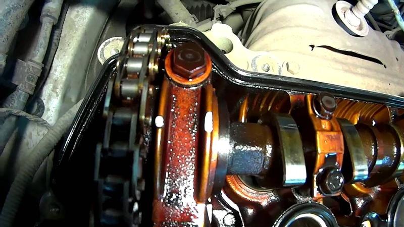 Toyota Fielder 1NZ-FE замена цепи ГРМ и маслосъемных колпачков Серия 1