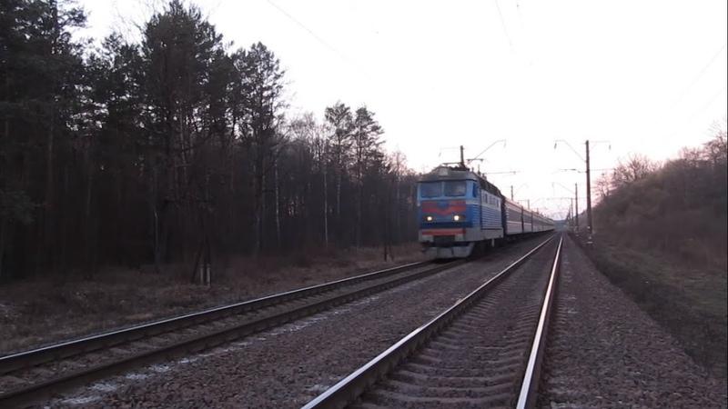 ЧС4-095 з додатковим поїздом №192 Львів - Київ