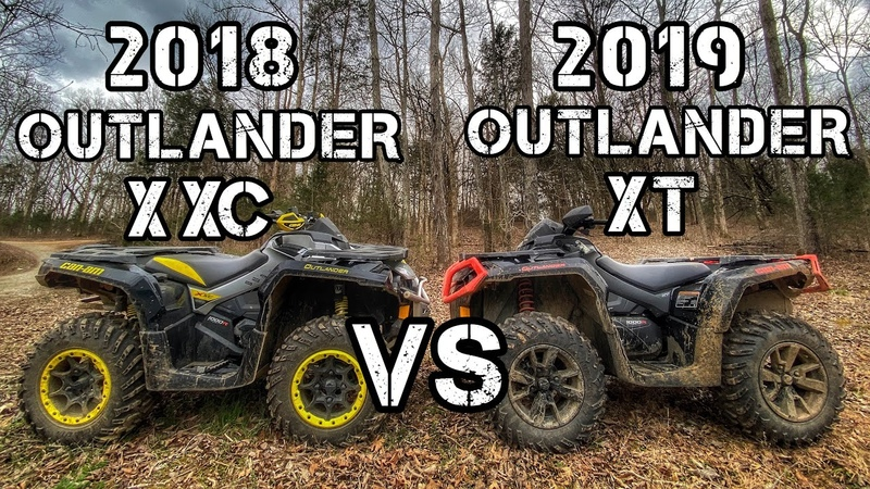 REAL RIDER REVIEW COMPARISON 2018 Can am Outlander Xxc vs 2019 Can am Outlander XT