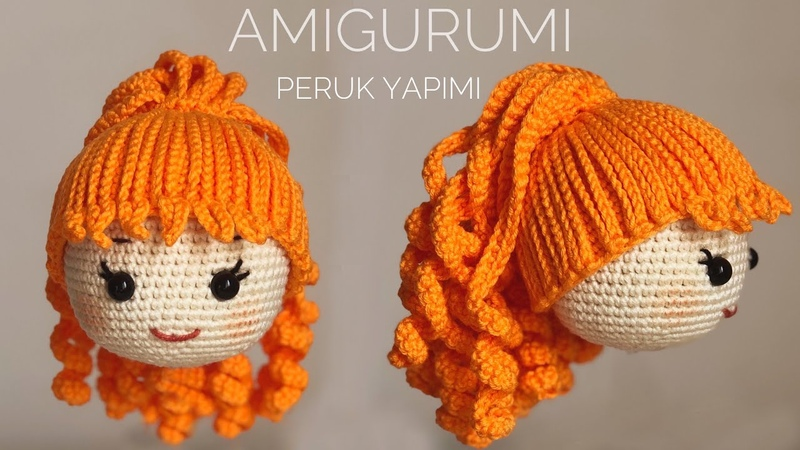 AMIGURUMI KOLAY PERUK YAPIMI (Easy Wig Tutorial)(ENG SUBTITLES ON)