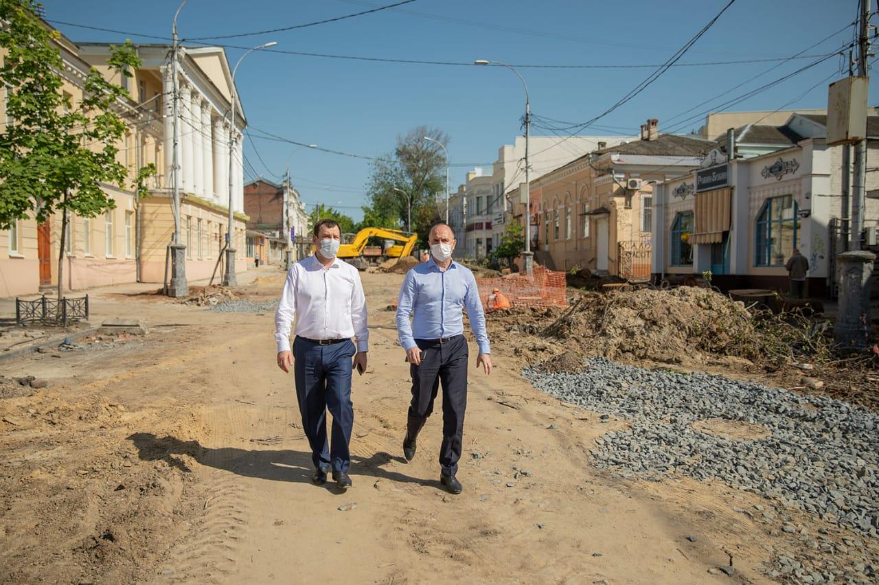 В Таганроге улицу Петровскую закончат благоустраивать в октябре