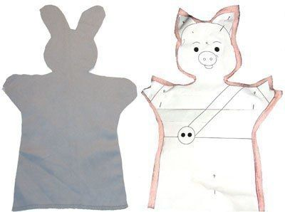 КУКЛЫ-ПЕРЧАТКИ ИЗ ТКАНИ СВОИМИ РУКАМИ Этот способ позволяет быстро изготовить практически любого персонажа. Кукла состоит всего из двух деталей-половинок (перед и зад), которые просто сшиваются