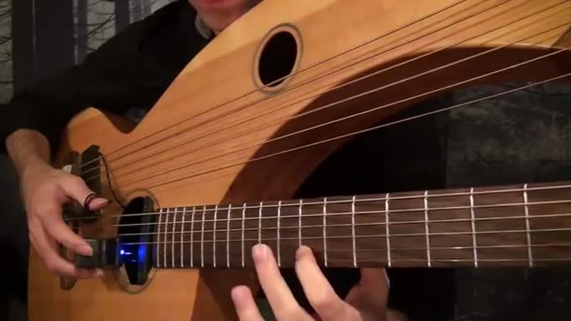My Heart Will Go On Titanic Theme Harp Guitar Cover Jamie Dupuis