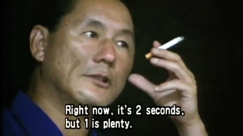 The filmmaking principles of Takeshi Kitano
