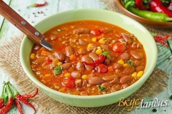 Крутой мексиканский суп Чили Кон Карне