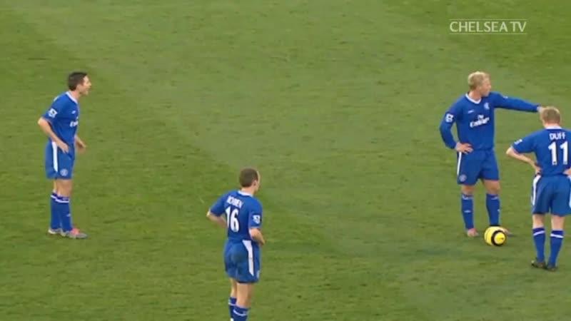 Гол Фрэнка Лэмпарда в ворота Фулхэма в 2004 chelsea