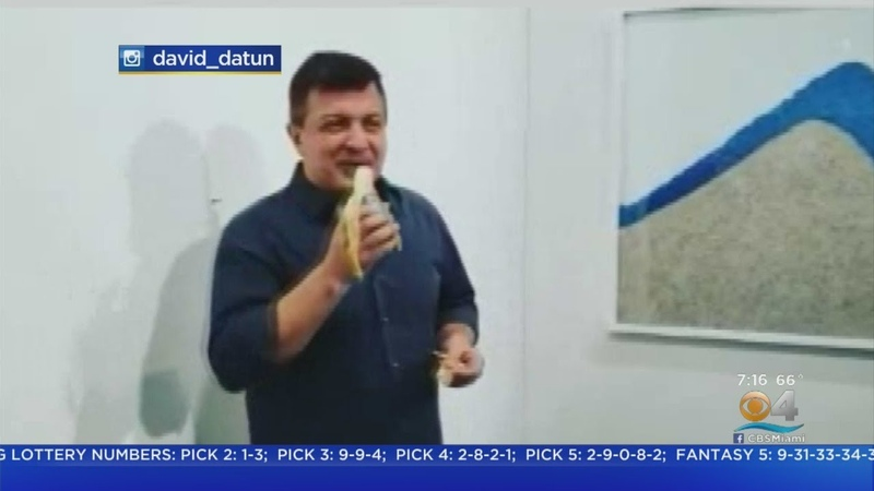 Man Eats Duct Taped Banana That Sold For Six Figures At Art Basel