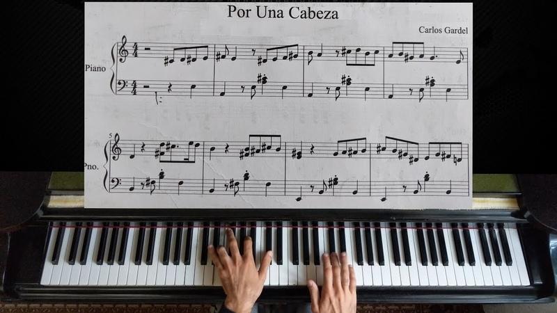 Por una Cabeza Carlos Gardel Piano Tutorial