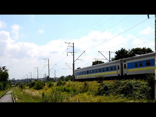 Трансформер ЧС4 з поїздом 749 Київ Івано Франківськ