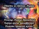 Помощь Ангела Хранителя, Карма врачей, Шизофрения, Память прошлых жизней