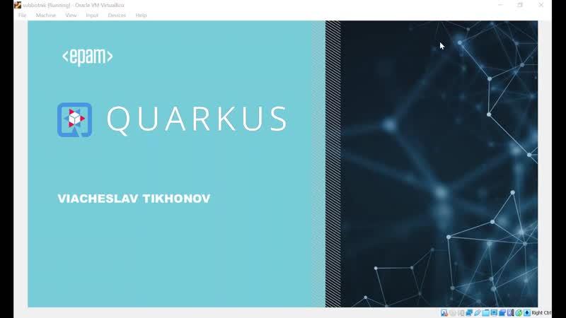 Вячеслав Тихонов QUARKUS Supersonic Subatomic Java