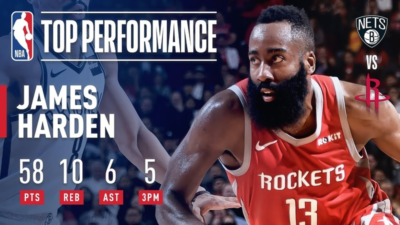 James Harden GOES OFF For 58 Points Against Brooklyn | January 16, 2019 NBANews NBA Rockets JamesHarden