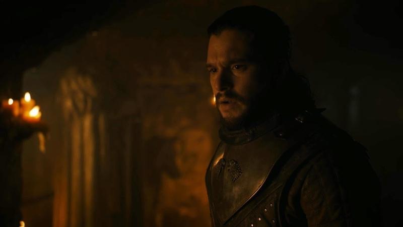 Игра престолов 8 сезон 1 серия - Сэмвелл Тарли рассказывает Джону правду о его происхождении