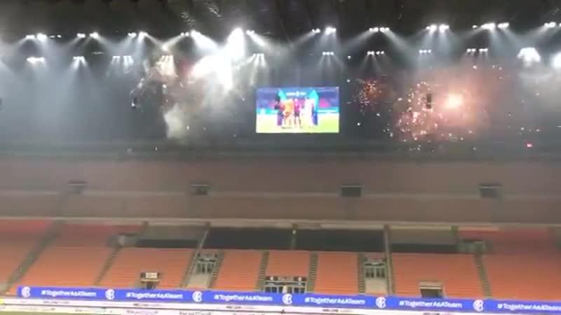 Салют перед матчем Интер – Ювентус