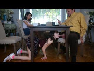 Aliya Brynn, Jackie Rogen - New Rules (Teen, Threesome, Blowjob, Brunette, Doggystyle, Small Ass, Small Tits, Step Dad, Taboo)
