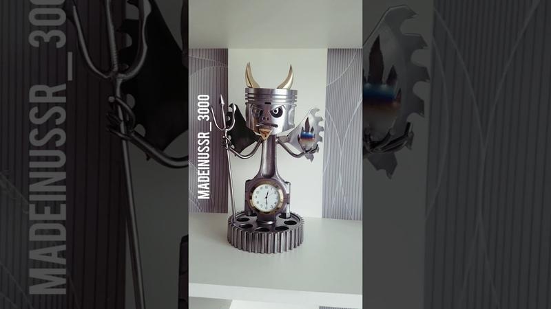 Как я до этого додумался! Мегакрутая поделка!Аццкий сотона времени Devil piston clock