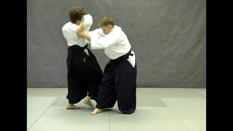 Ushiro ryohiji dori shihonage ura Справочник техник айкидо Aikido techniques reference