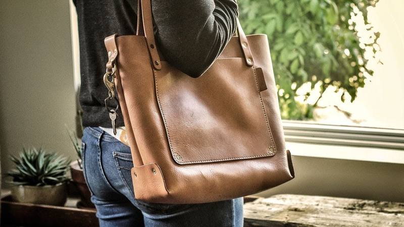 IT'S FINISHED Making a Leather Tote Bag with FREE PATTERN Pt 2