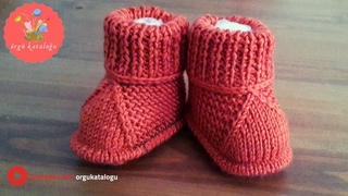 #41 En Kolay Bebek Patik Modeli - Örgü Modelleri / Knitted Baby Boots