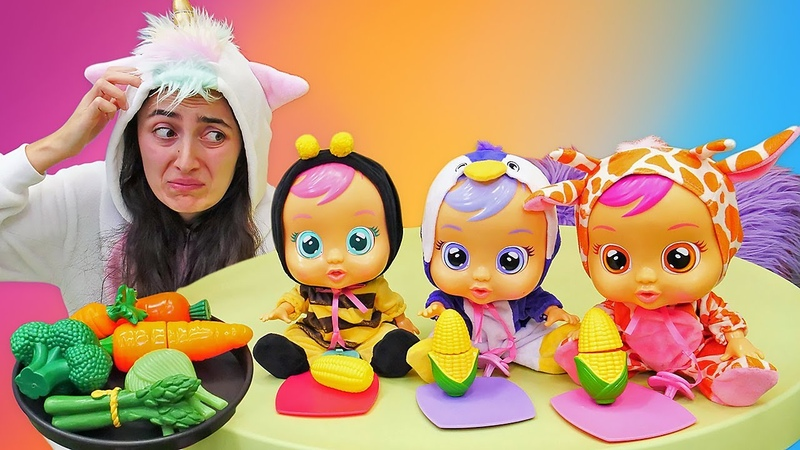 Spielspaß mit dem Einhorn und Cry Babies. Spielzeug Video für Kinder.