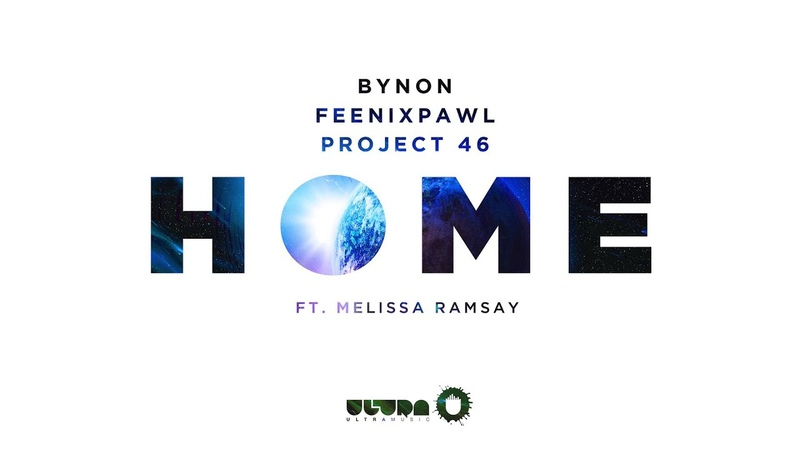 BYNON, Feenixpawl Project 46 feat. Melissa Ramsay - Home (Cover Art)
