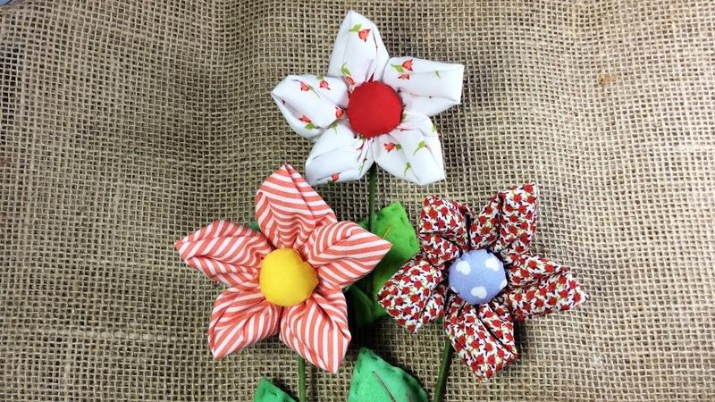 Flor de Tecido Fabric Flower
