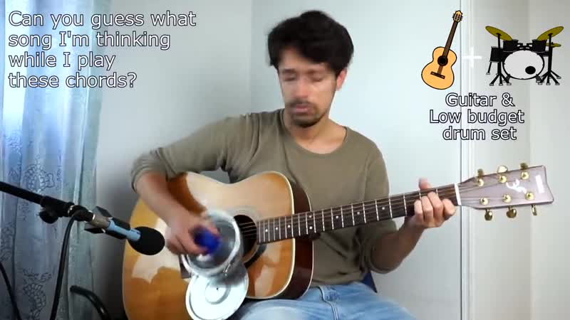 Instruments imitations on guitar 2 using an air compressor