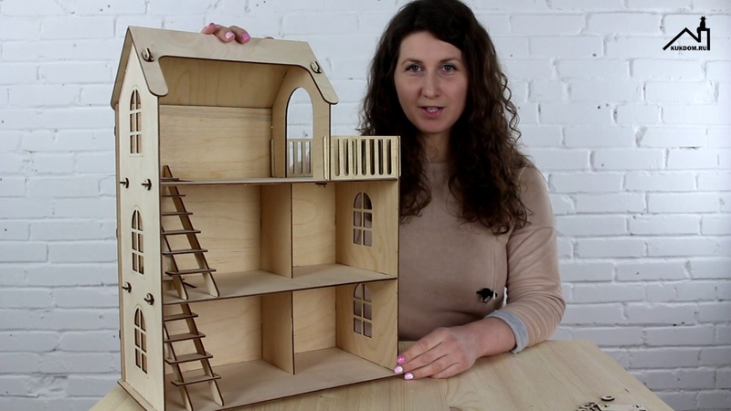 Кукольный эко домик из фанеры