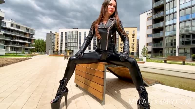 TOO SEXUAL IN LEATHER LEGGINS
