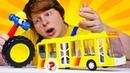 Автомастерская Саши у торопливого автобуса отвалилось колесо! Видео для детей про машинки