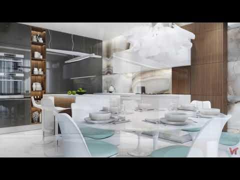 Дизайн кухни столовой площадью 20 кв м Чистота в линиях