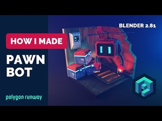 Pawn Bot in Blender  - Low Poly 3D Modeling And Texture Painting
