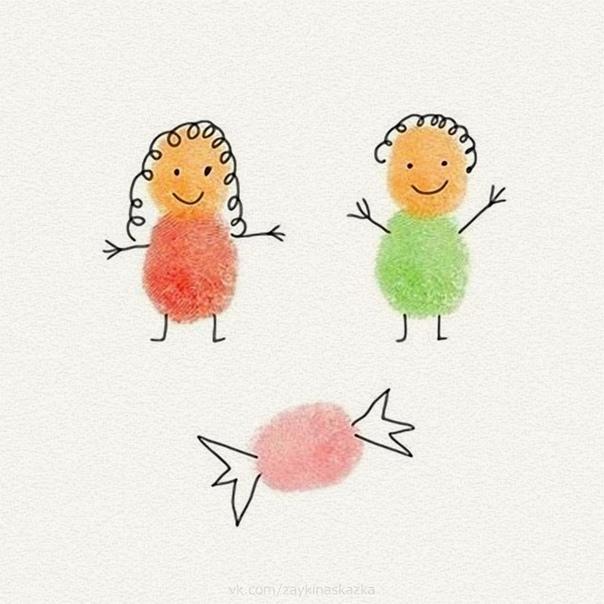 РИСУЕМ ПАЛЬЧИКАМИ Чудесная идея научить даже самых маленьких рисовать