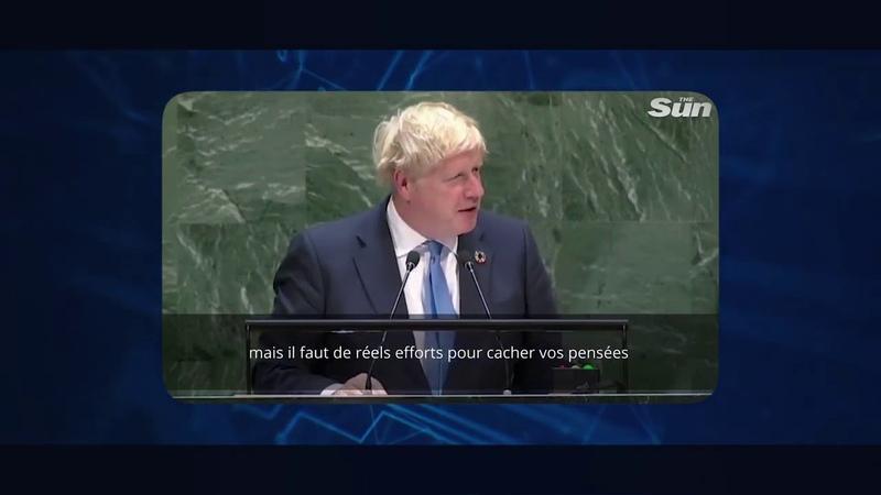 Hallucinant ! Boris Johnson confirme les vaccins les nanotechnologies et le N.O.M. ONU : 24 09 19