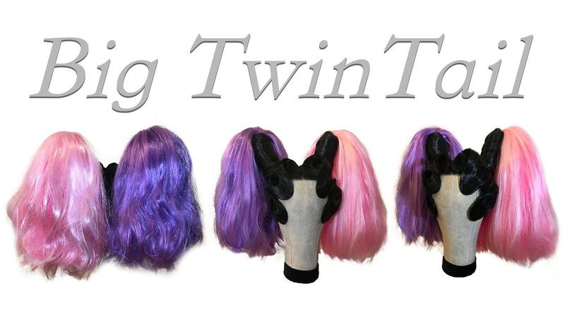 【Wig Styling Tutorial】Coloured Big POM POM HAIR!! For LOVE MAGAZINE